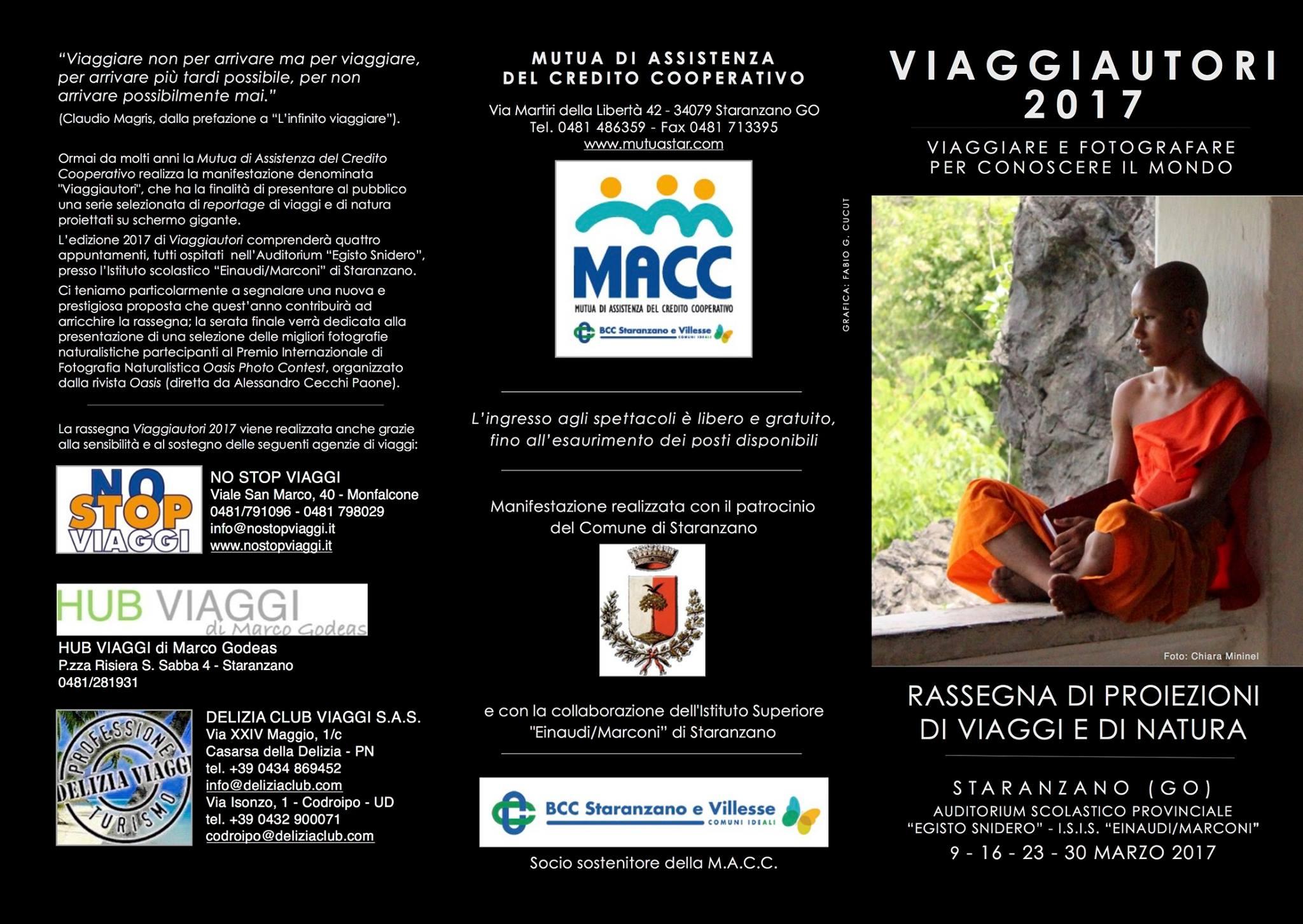 Rassegna Viaggiautori 9-16-23-30 marzo