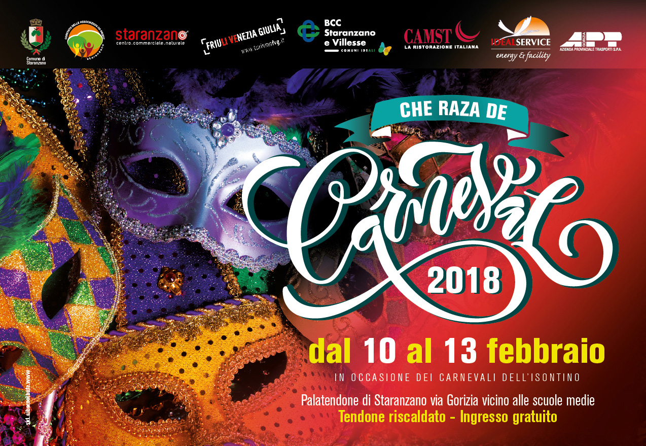 Carnevale 2018 – dal 10 al 13 febbraio