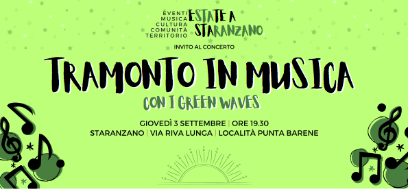 Tramonto in musica con i Green Waves